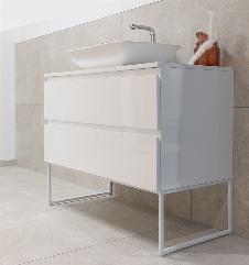 Badmöbel Unterschrank FULGIDO (hochglanz-weiß) ohne Waschtisch