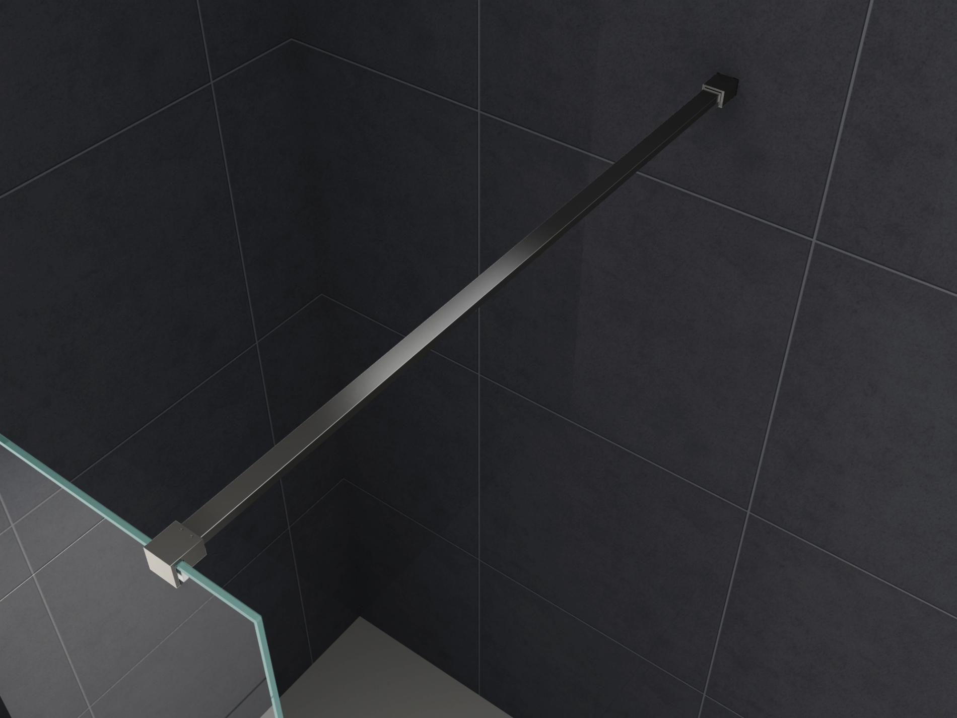 Haltestange 140 cm schwarz (kantiges Profil)